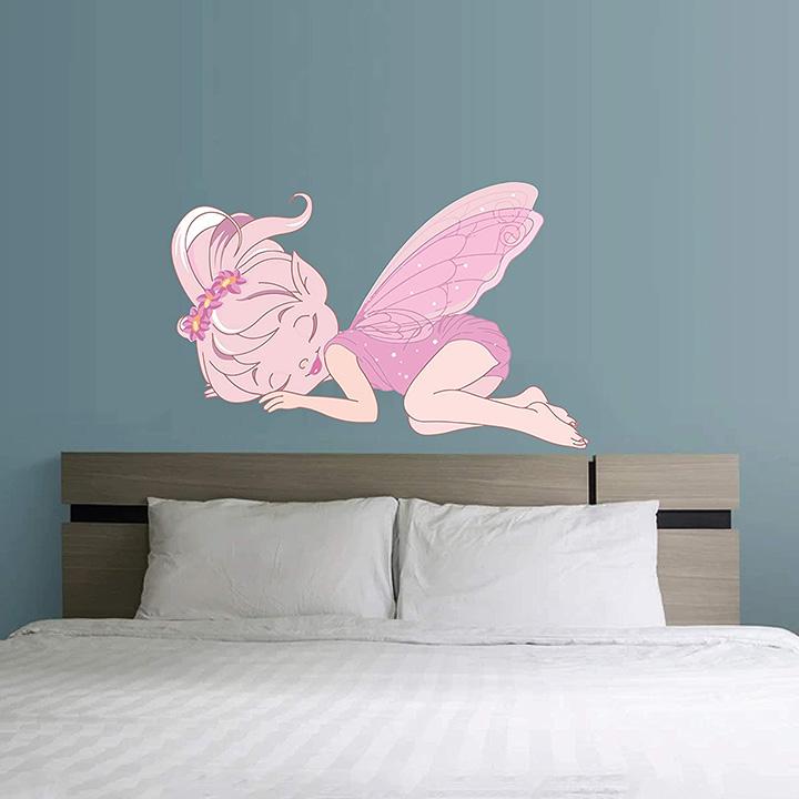 sleeping fairy butterfly wall stickers