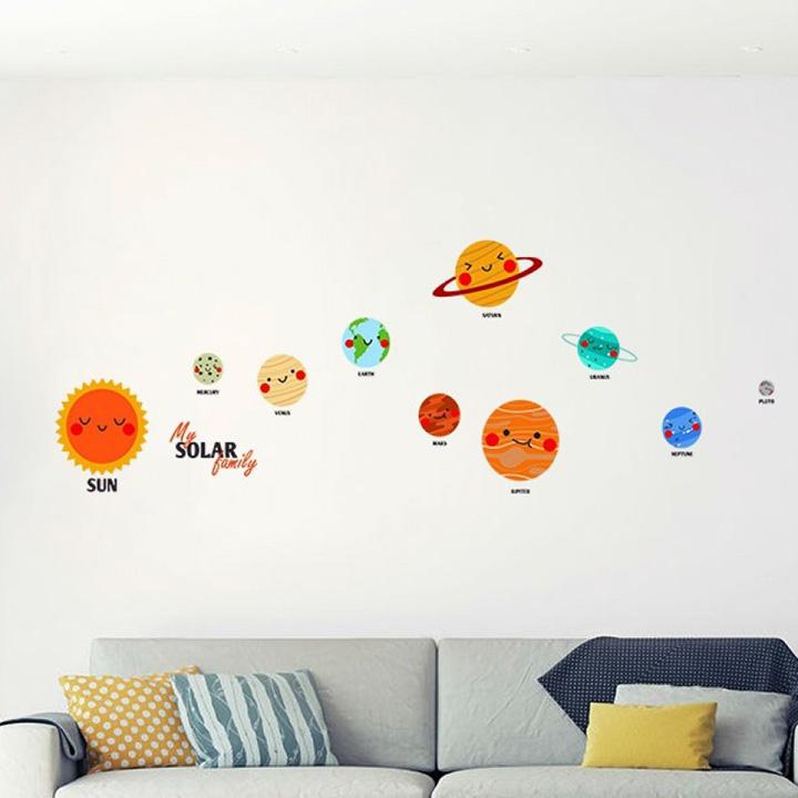 solar system wall sticker for study room, school