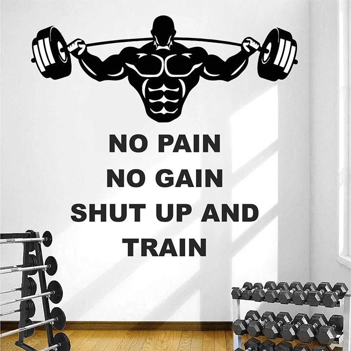 stickme gym fitness sports workout wall sticker