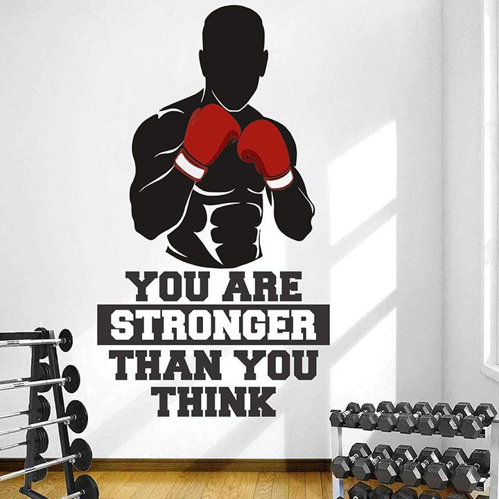 stickme 'gym - fitness wall sticker