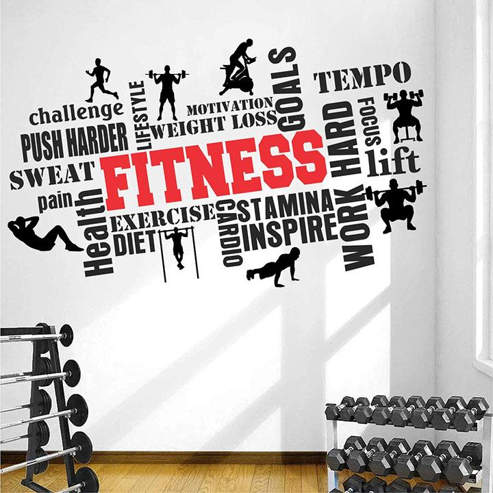 stickme paper gym fitness bodybuilding wall sticker