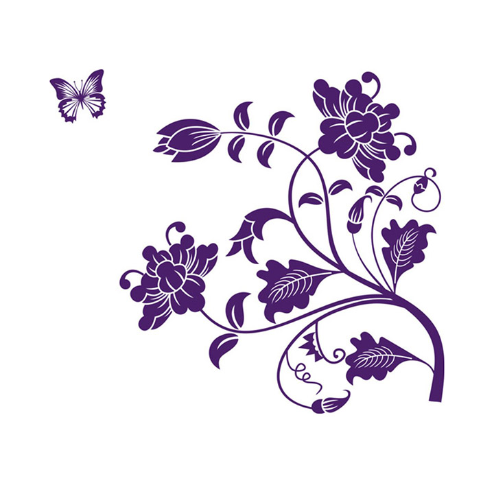 'vine flower' wall sticker