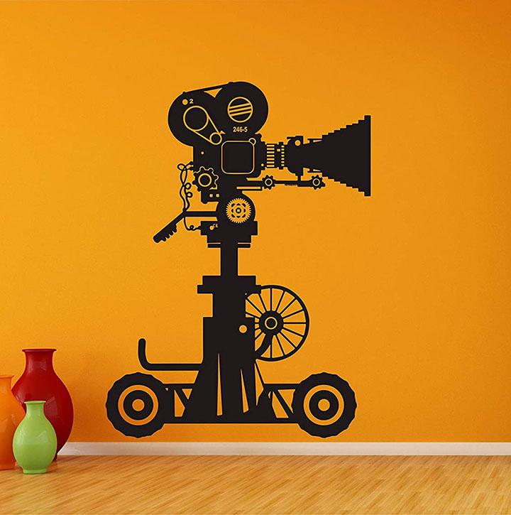 wall guru vinyl camera with video shooting wall sticker