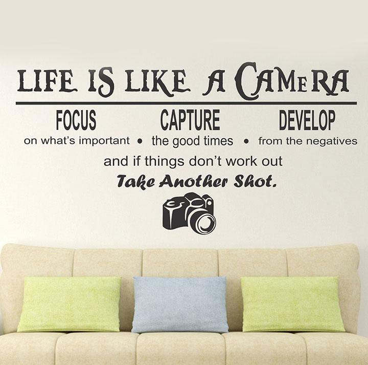 wallstick 'camera quotes' wall sticker