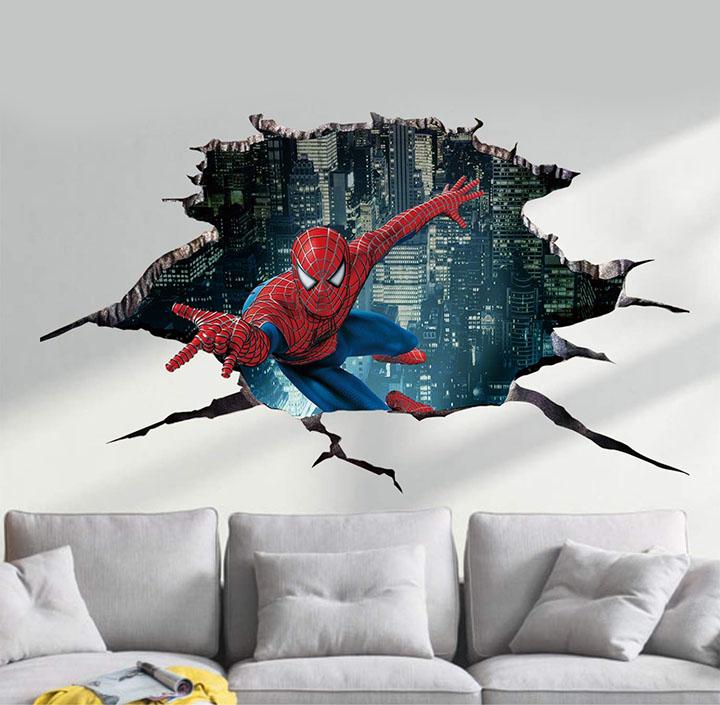 Balkrishna Spider Man 3D Wall Sticker
