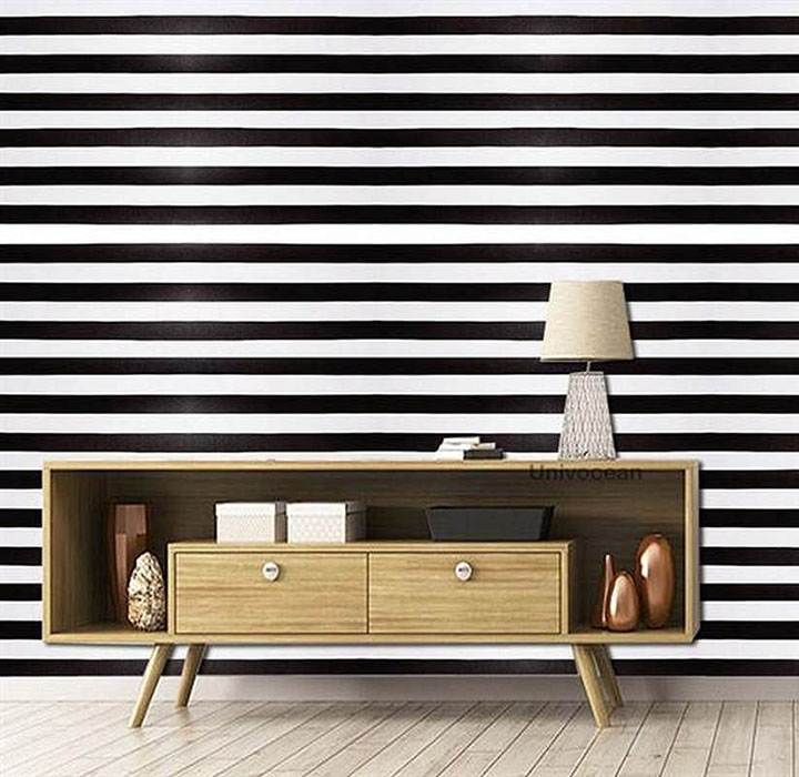 Black and White Striped Wall Sticker