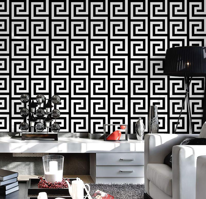 Black and White self adhesive Wall Sticker