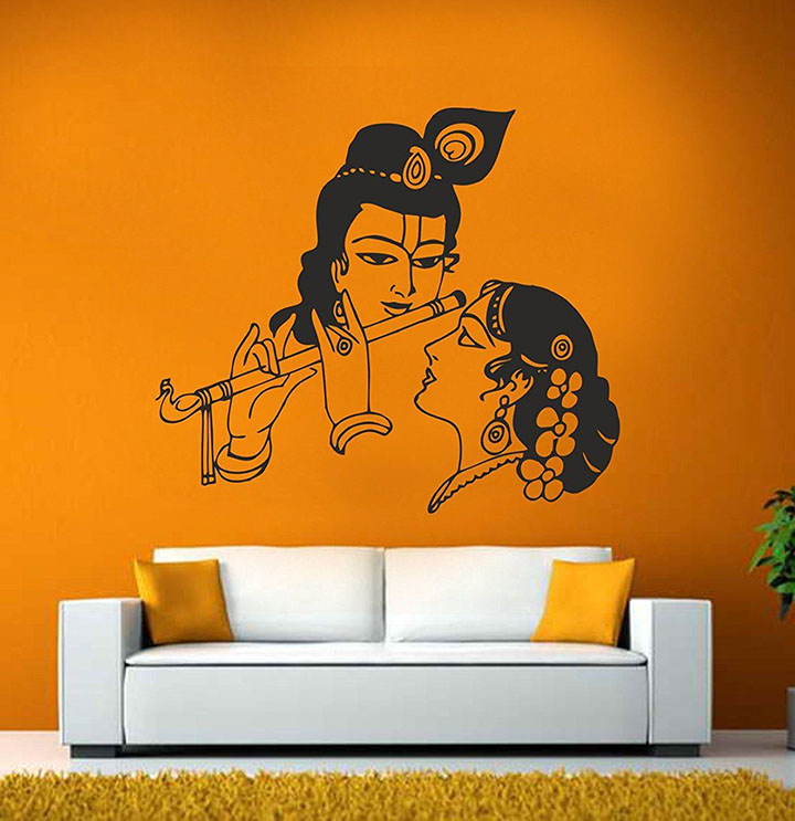 DECOR Kafe 'Radha & Krishna Wall Sticker