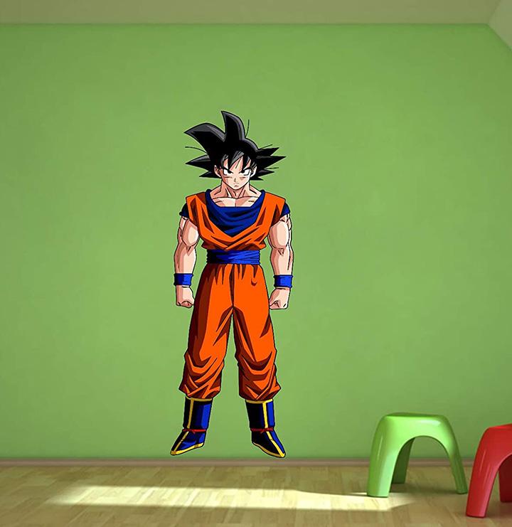 Decor Kafe Superhero Goku Wall Sticker