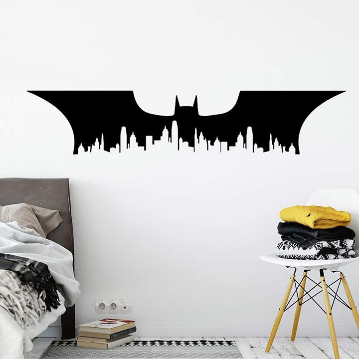 Gadgets Wrap Delicate Batman Superhero Wall Art Decal Wall Sticker