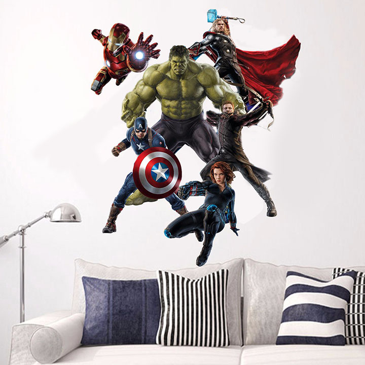 gadgets wrap super heroes wall sticker
