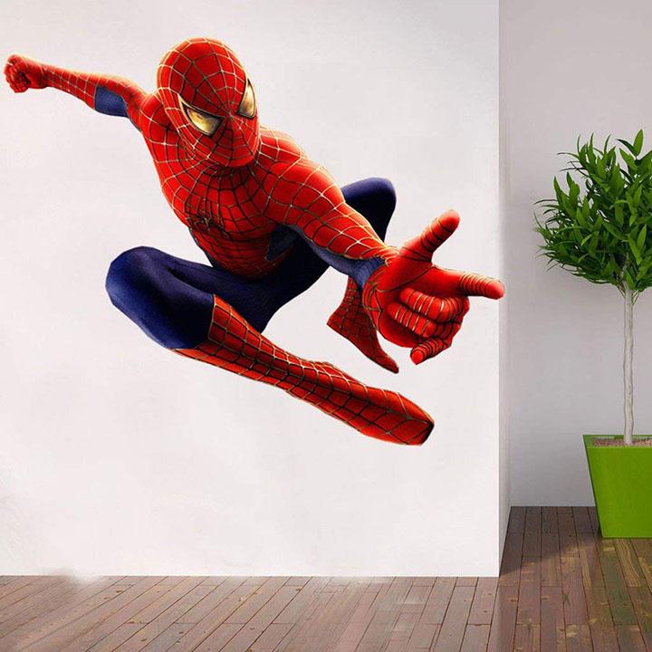 impression wall decor pvc spiderman wall sticker