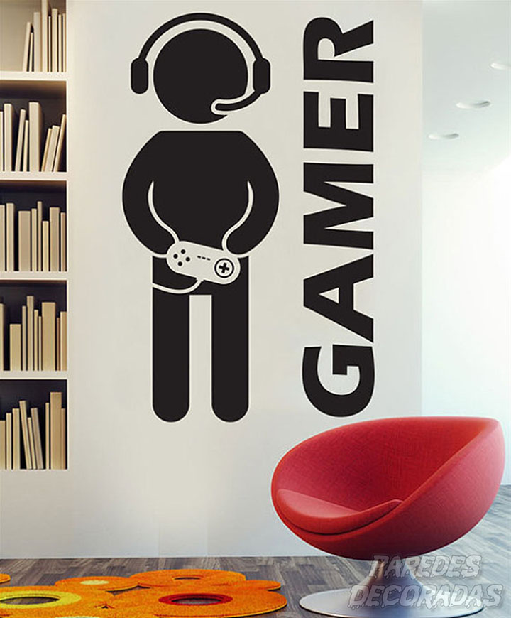 Paper Plane Design Gamer Wall Decal For Boys Room