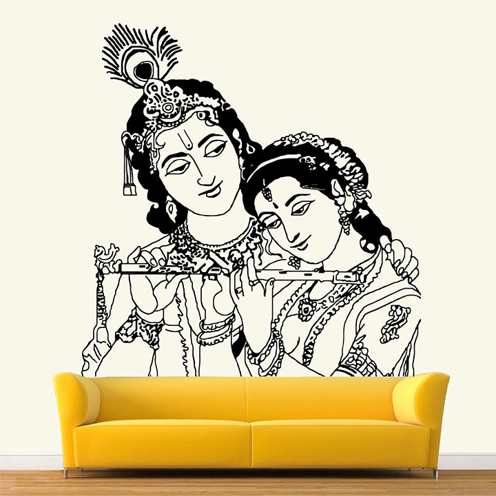 StickMe 'Lord - Radhe Krishna Wall Sticker