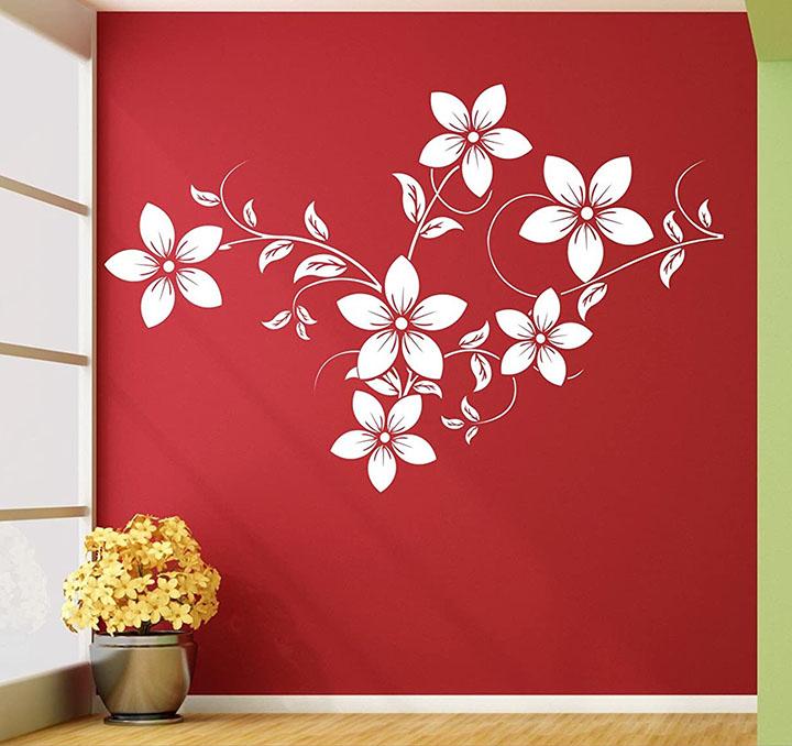 Wall Guru Lovely Flower Wall Decal and Sticker