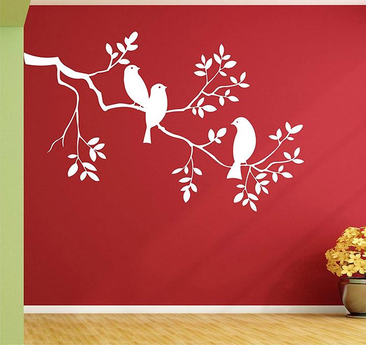 Wall Guru Tree With Birds vinyl Wall Sticker