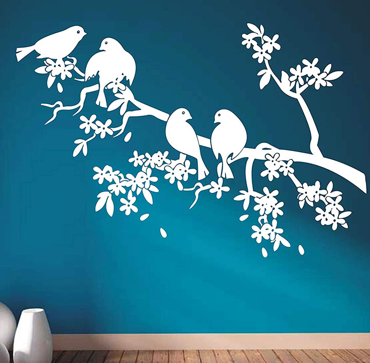 wall guru vinyl birds wall sticker