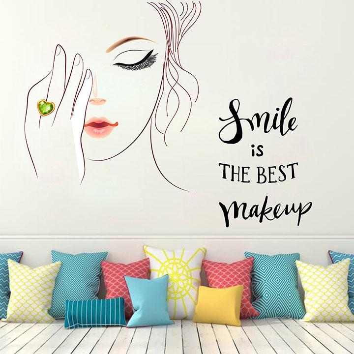 Wallstick 'Smile Beauty' Wall Sticker