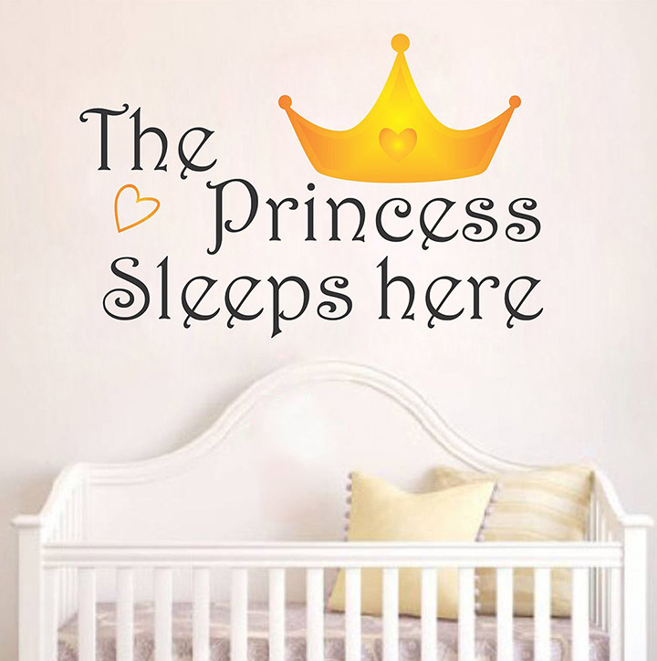 Wallstick 'The Princess Quotes' Wall Sticker