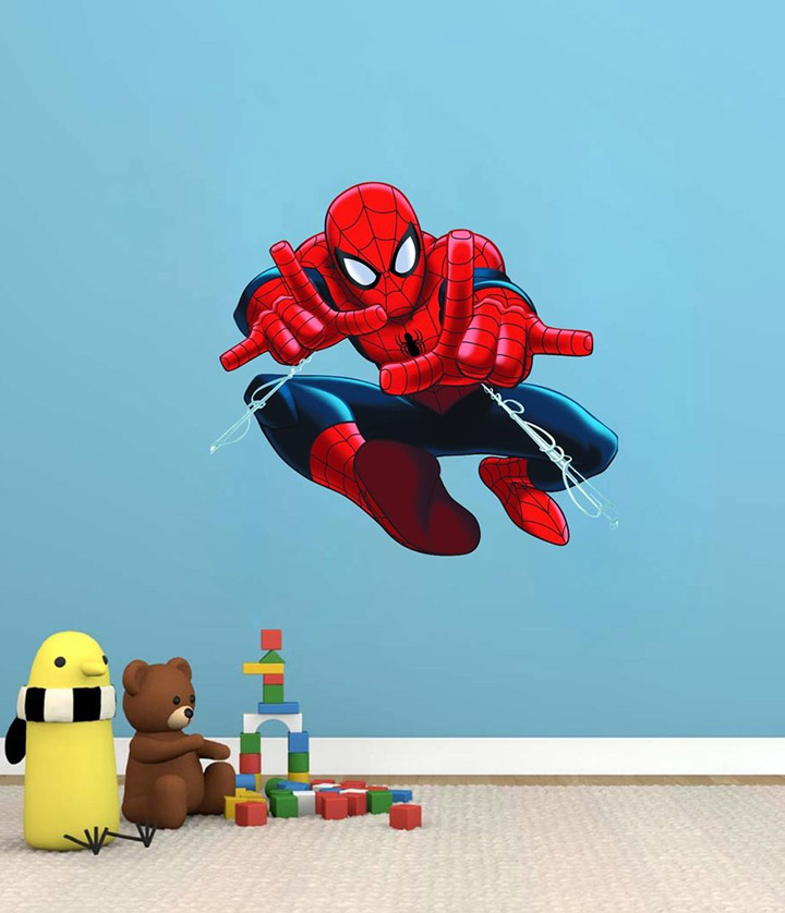 creatick studio spiderman wall sticker