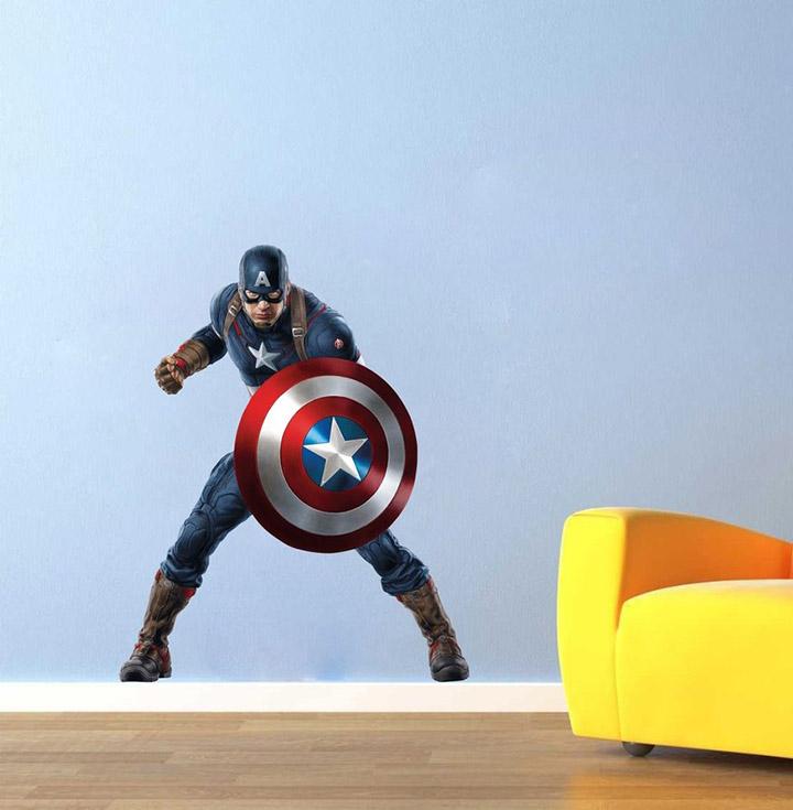 creatick studio Vinyl Captain America Superhero Sticker