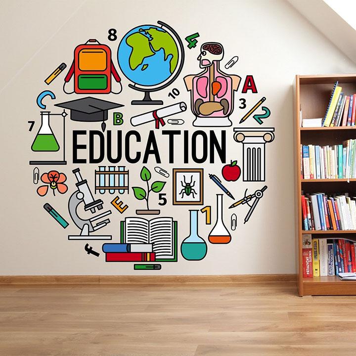 learning education wall sticker for school