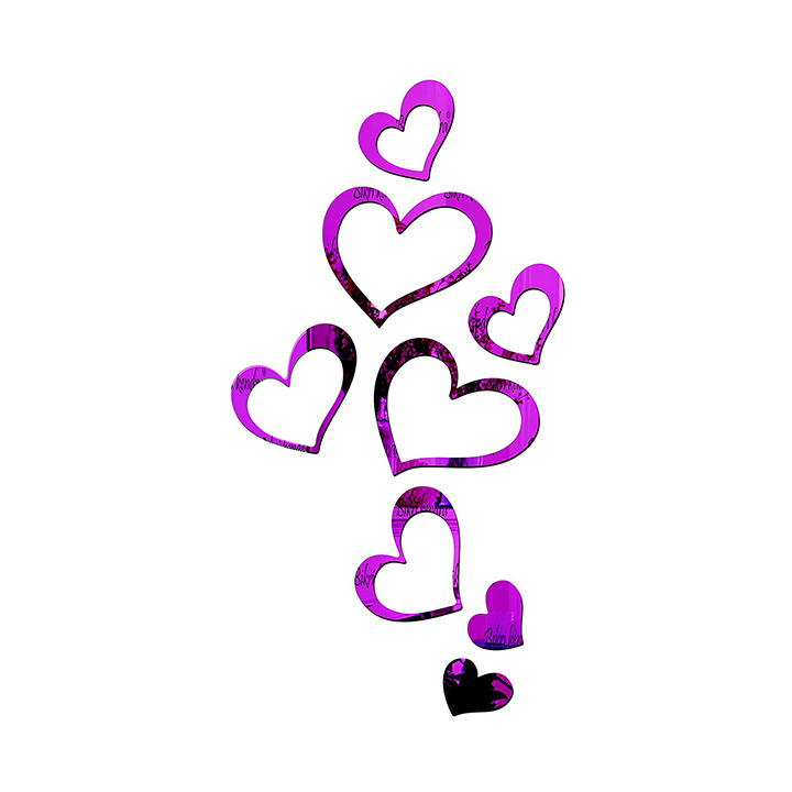romantic purple wall sticker