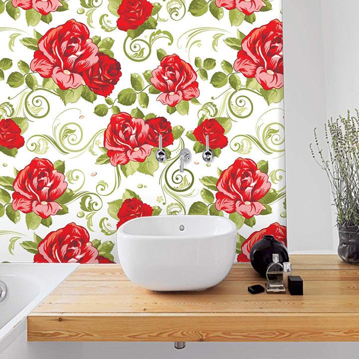 rose & petal floral pattern wallpaper