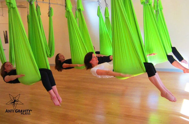 Image of AntiGravity® Fitness group class in reclining position