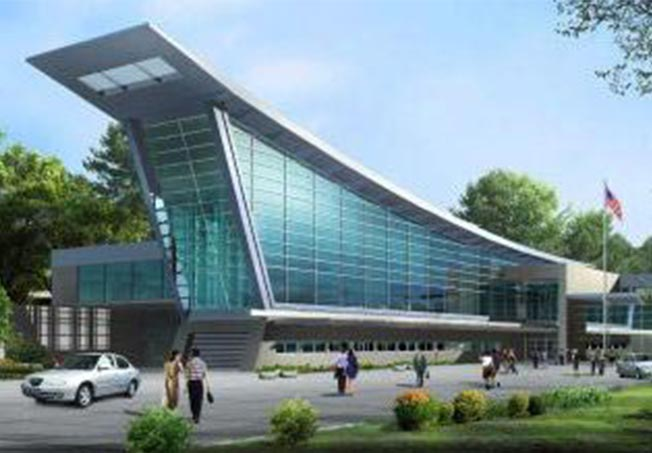rendering of the greenburgh public library