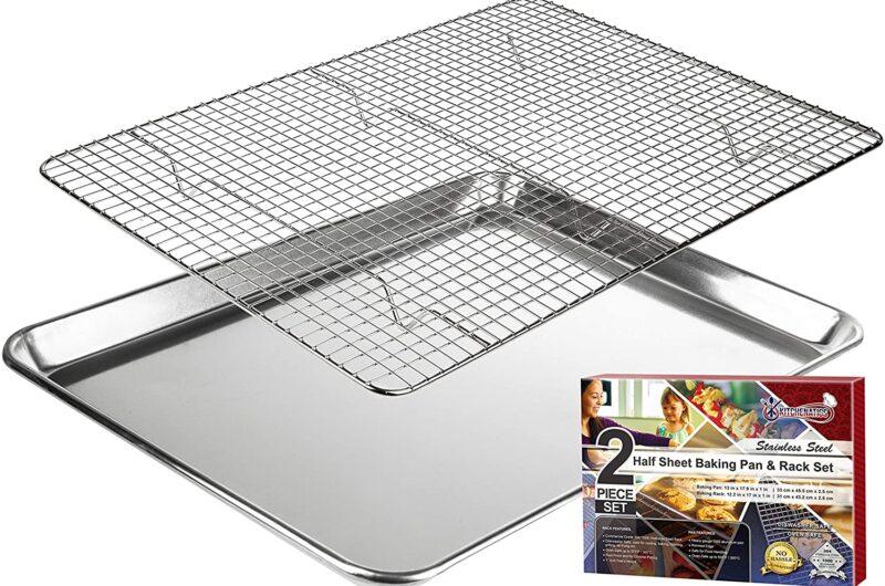 Pan with rack