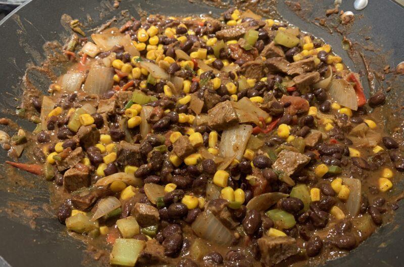 smoked beef black bean chili