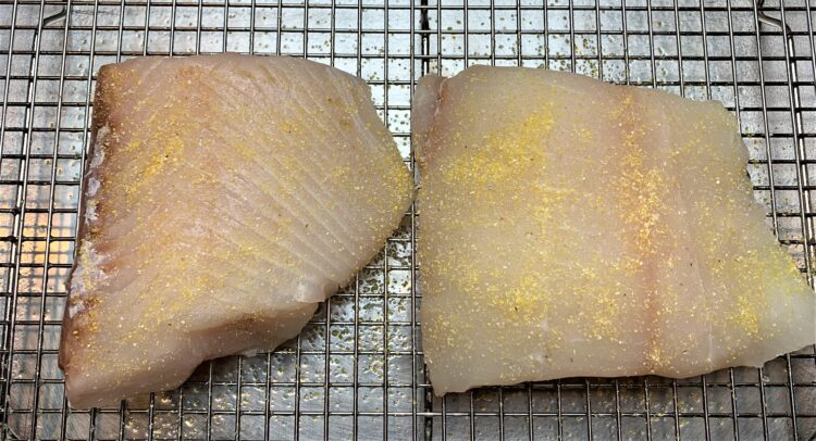 halibut with corn meal coating