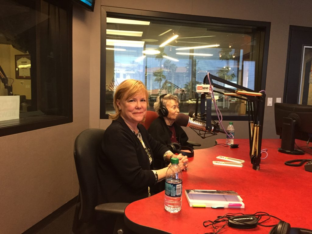 Pat McMahon of KTAR interviews Valerie and Helen