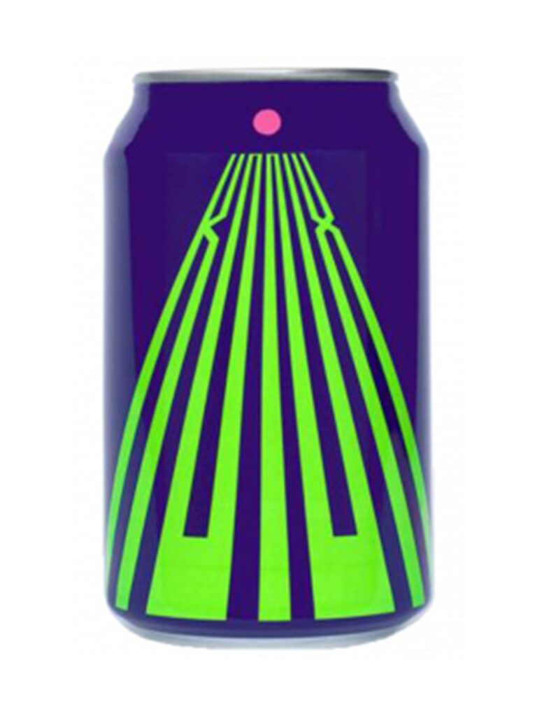 A can of Knox, it's purple with a lime green logo