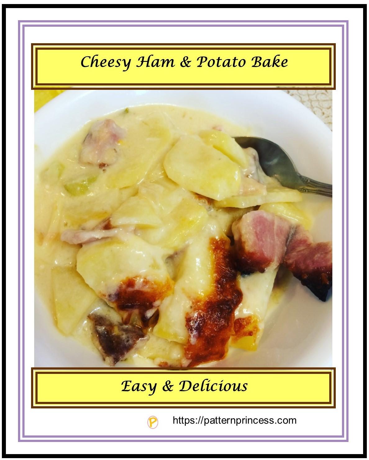 Cheesy ham and potato bake 2