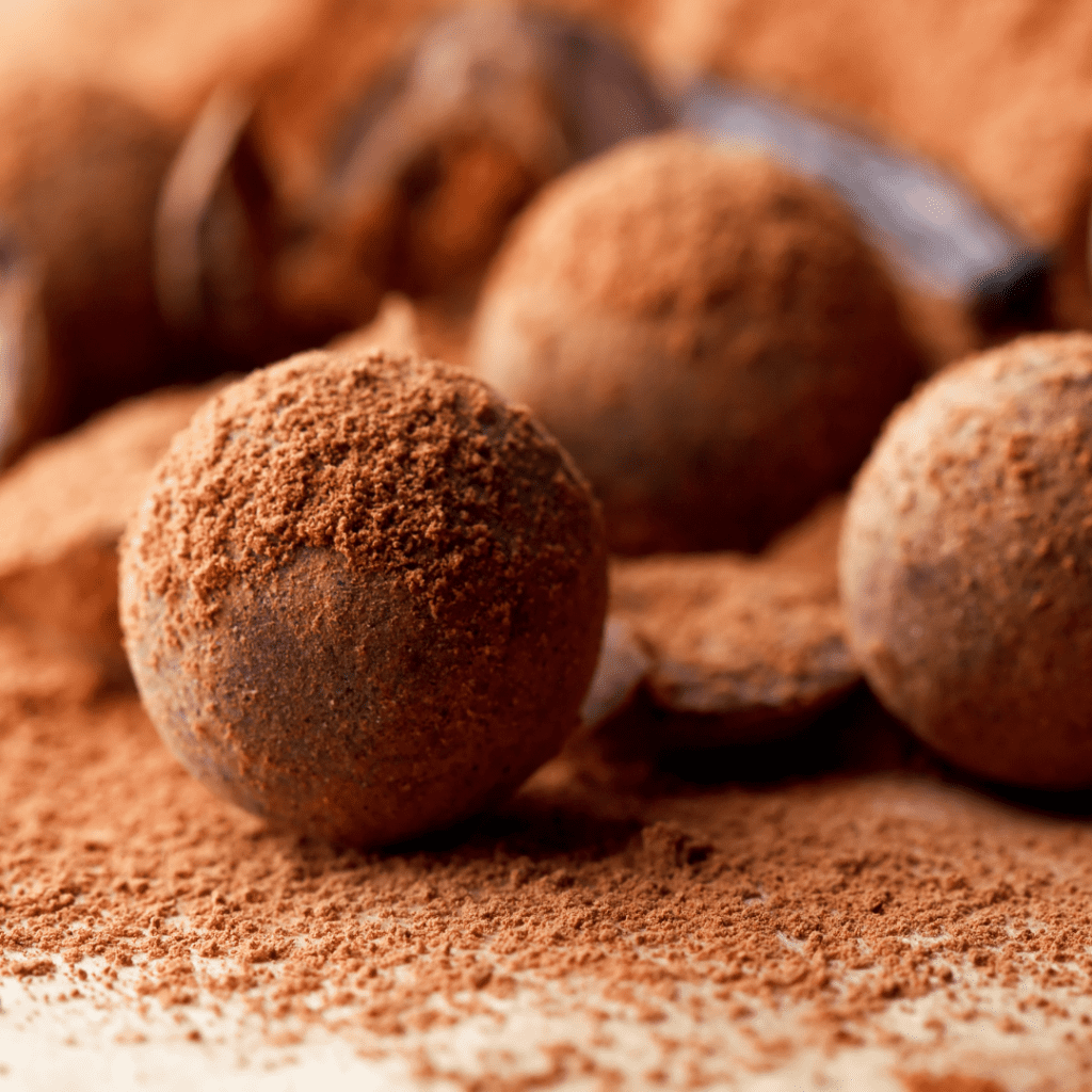 Chocolates Dusted in Cocoa Powder