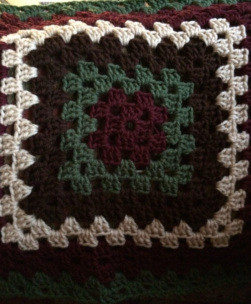 Center of Granny Square Afghan