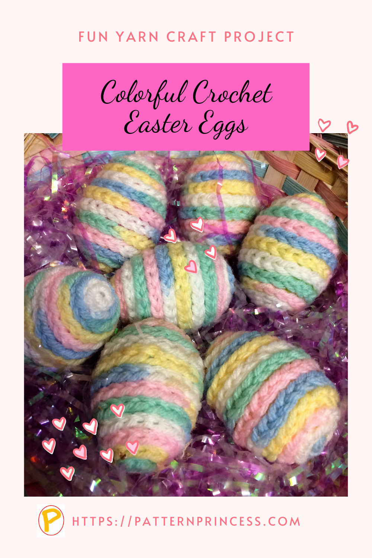 Colorful Crochet Easter Eggs