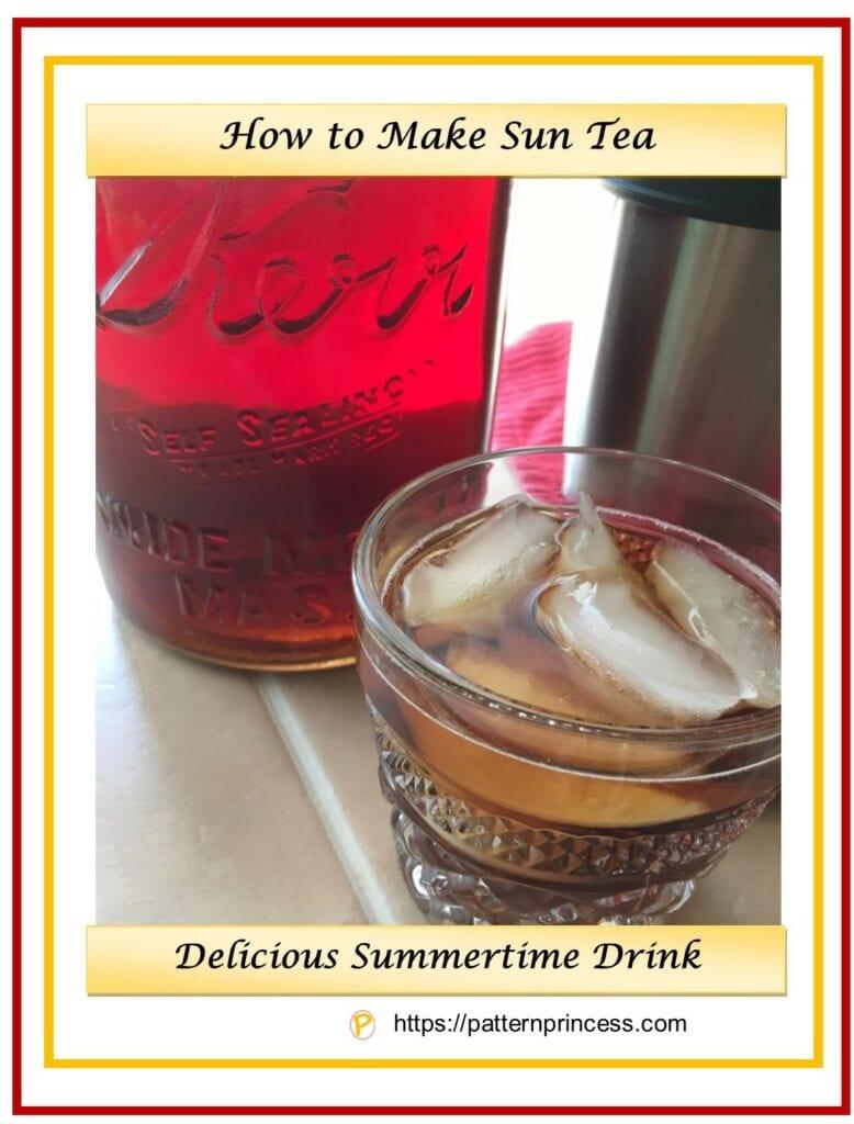 how to make sun tea 1