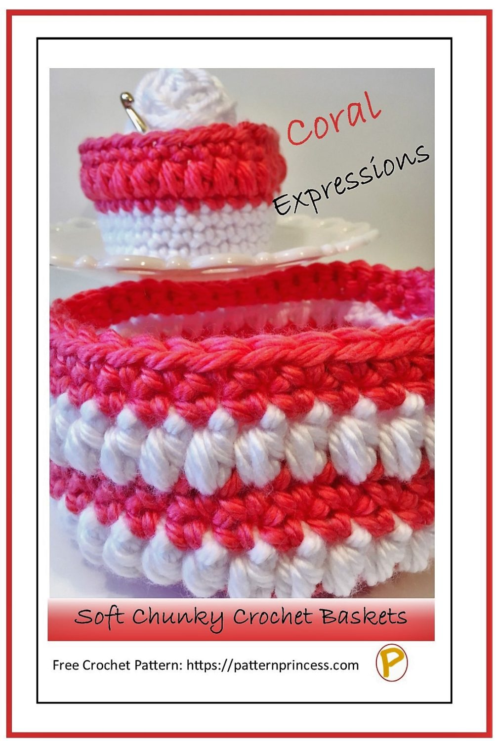 Coral Expressions Soft Chunky Crochet Baskets