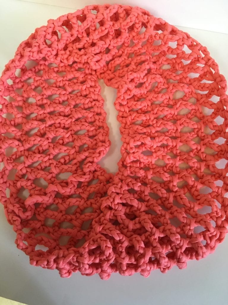 Coral T-Shirt Yarn Cowl