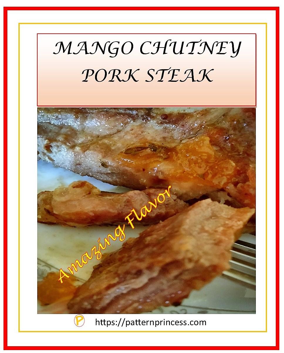 Mango Chutney Pork Steak 1