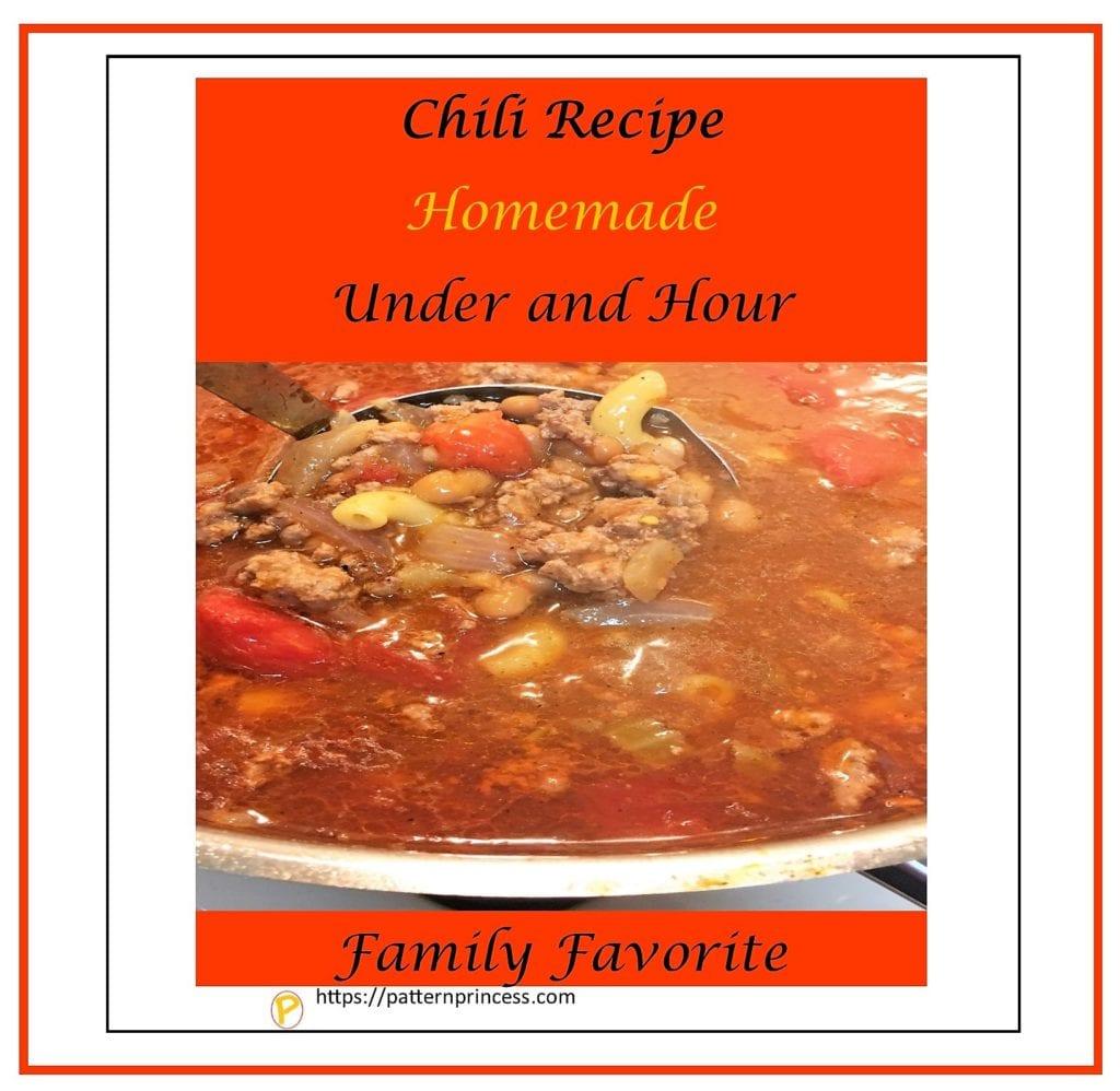 Chili Recipe Homemade Under and Hour 1