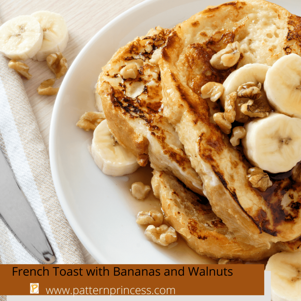 French Toast with Bananas and Walnuts