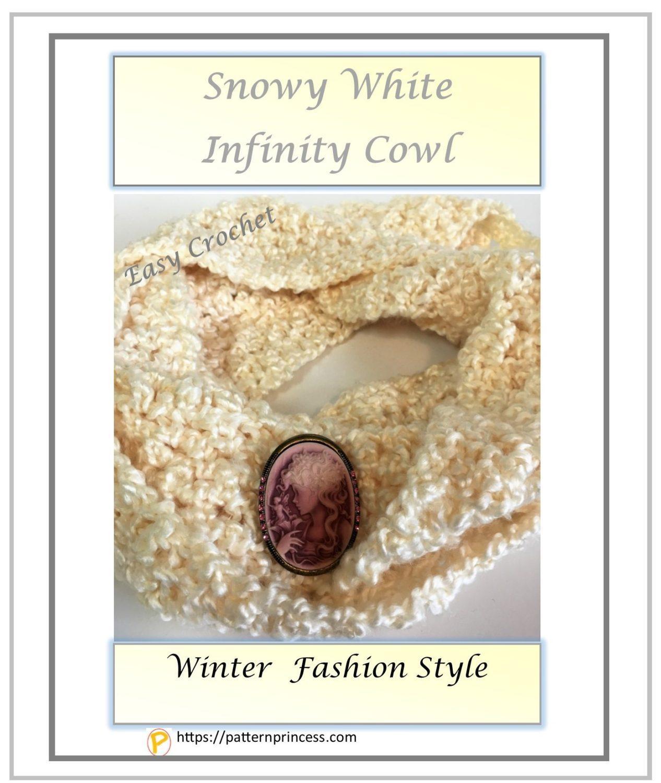 Snowy White Infinity Cowl 1