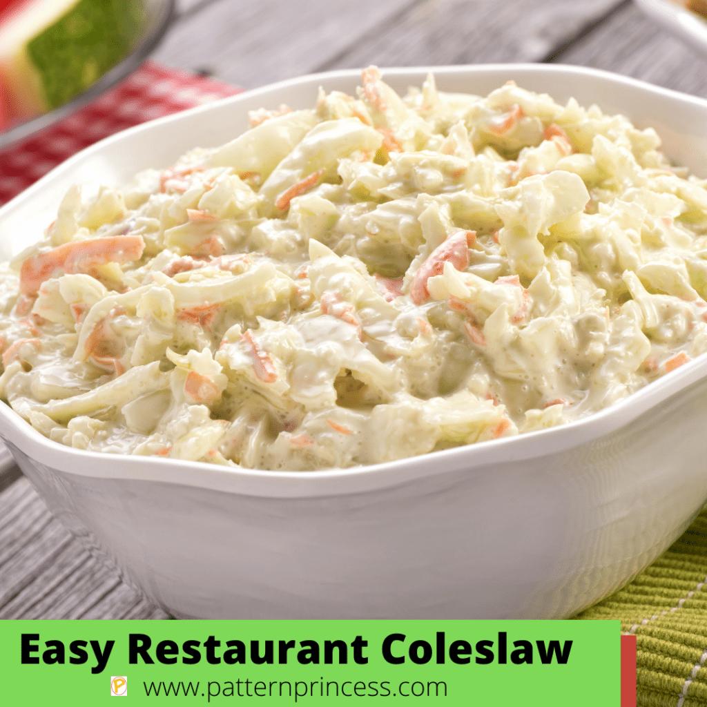 Easy Restaurant Coleslaw