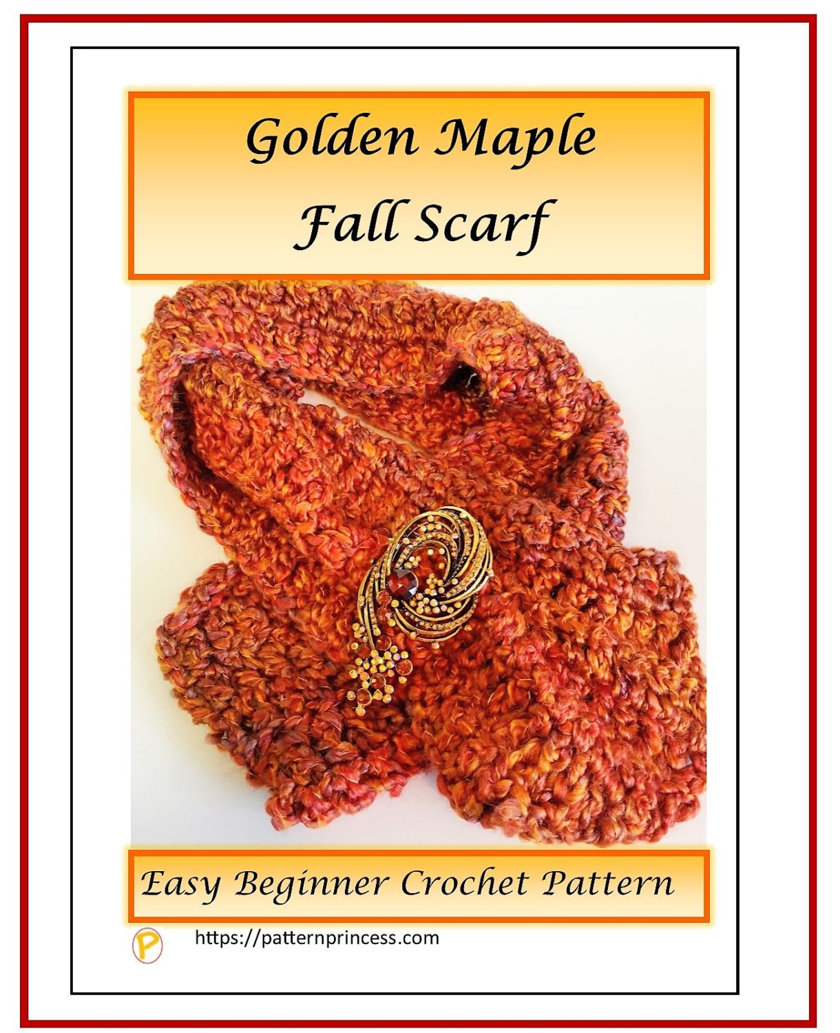 Golden Maple Fall Scarf 1