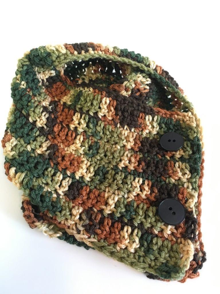 Camouflage Neck Warmer Crochet Pattern
