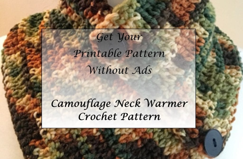 Camouflage Neck Warmer Crochet Pattern Printable